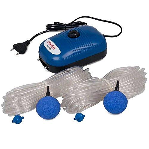 Osaga MK-Serie Teich- und Aquariumbelüfter - Set mit regelbarer Luftpumpe, komplett Set (Set MK-9502)