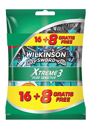 Wilkinson Xtreme 3 Pure Sensitive Einweg-Rasierklingen, 24Stück