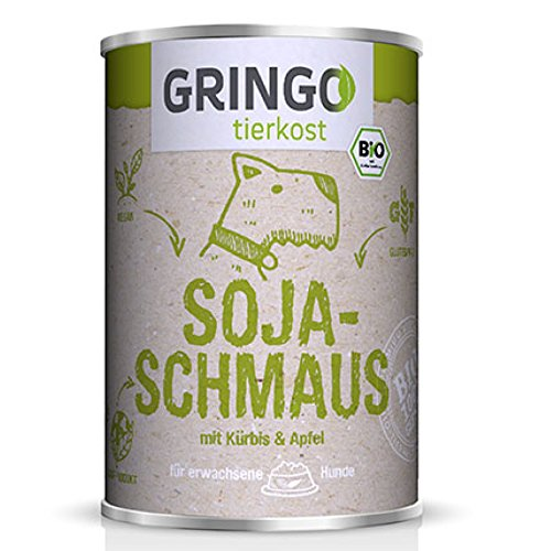 GRINGO Soja-Schmaus mit Kürbis & Apfel, veganes Bio-Hundefutter (400 g)
