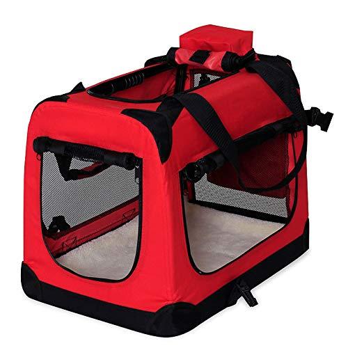 Hundetransportbox Hundetasche Hundebox faltbare Kleintiertasche Farbe Rot Größe XL