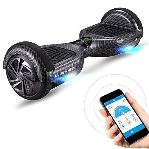 6.5' Premium Hoverboard Bluewheel HX310s -Deutsche Qualitäts Marke - Kinder Sicherheitsmodus & App - Bluetooth Lautsprecher - Starker Dual Motor - LED - Elektro Skateboard Self Balance Scooter