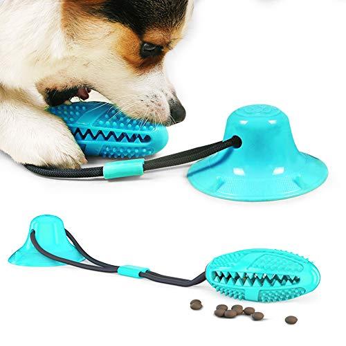 Zahnbürsten-Stick, Hundespielzeug mit Saugnapf, Hundezahnbürste Kauspielzeug, Ball Leckerli-Spender für Hunde Welpen,Zahnreinigung mit Zahnpflege-Funktion für Hund