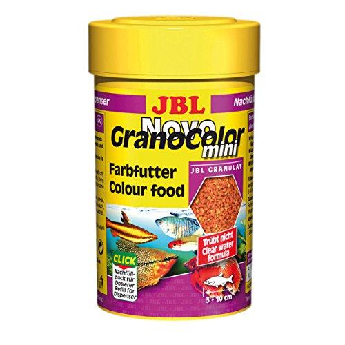 JBL Novo Grano Color 30097 Alleinfutter für kleine farbenprächtige Aquarienfische, Nachfülldose Granulat 100 ml,