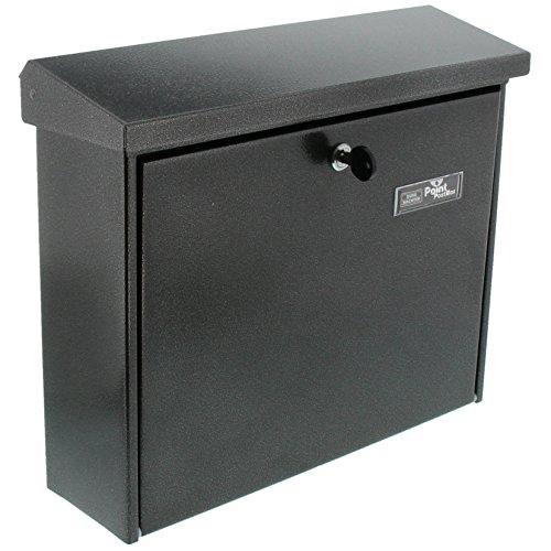 BURG-WÄCHTER Briefkasten, A4 Einwurf-Format, EU Norm EN 13724, Inkl. 2 Schlüsseln, Verzinkter Stahl, Journal 5867 E, Eisen