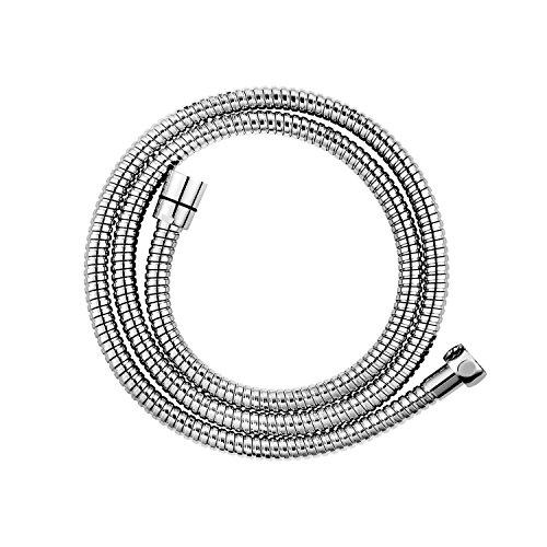 CLOFY Hochwertiger Brauseschlauch Duschschlauch 1,5m lange Edelstahl Metaflex Doppel-Lock 1/2, 10 Jahre Zufriedenheitsgarantie, Chrom