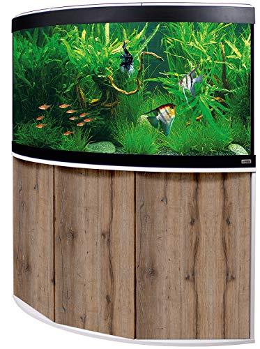 Aquariumkombination Fluval Venezia 350 mit LED Beleuchtung, Heizer, Filter und Unterschrank weiß-Eiche
