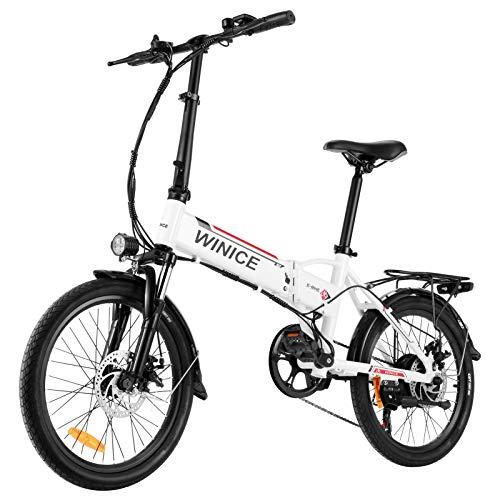 Vivi E-Bike Faltbares Elektrofahrrad, 20 Zoll Pedelec Elektrisches Fahrrad 250W Ebike für Erwachsene mit Herausnehmbarer 36V 8Ah Lithium-Akku, Professionelle 7-Gang-Gänge
