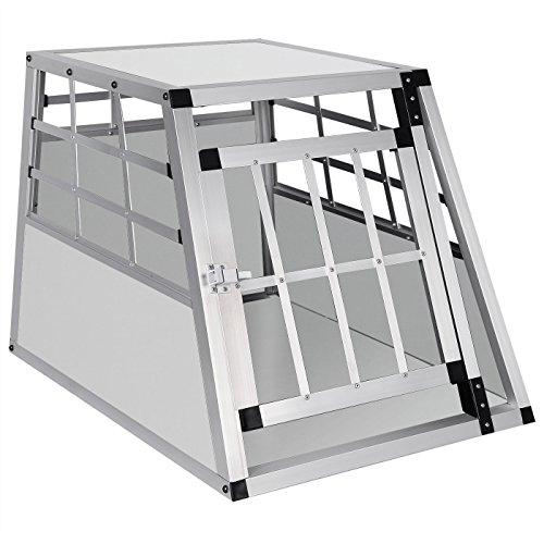 EUGAD Hundebox Transportbox Hundetransportbox Alu Reisebox Gitterbox Box L 69 x B 54 x H 50 cm 0052HT