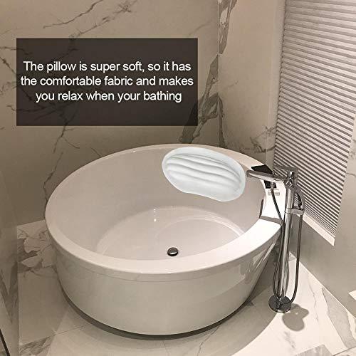 Bloomma Badekissen für Badewanne mit Konjac-Schwamm, groß für Badewanne, Whirlpool, Whirlpool und Home Spa - rutschfeste Luxusunterstützung für Kopf, Nacken, Rücken und Schultern