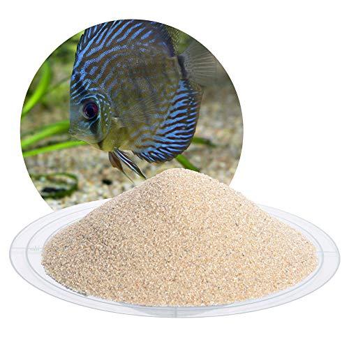 Schicker Mineral Aquariumsand Aquariumkies beige im 25 kg Sack, kantengerundet, gewaschen, ungefärbt, (0,4-0,8 mm)
