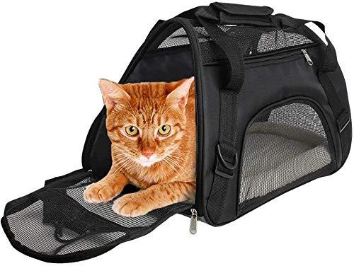 CUBY Soft Sided Pet Carrier , Komfort für Flugreisen für kleine Tiere/Katzen/Kätzchen/Welpen (S)
