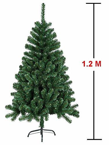 MCTECH Festive Künstlicher Weihnachtsbaum mit Ständer Andere Größe- Farbe: Grün PVC Dekobaum (120CM)
