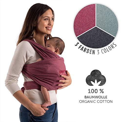 Laleni Premium Tragetuch Baby Tragetuch Neugeborene - Babytragetuch 100% weiche Bio-Baumwolle, elastisch bis 15kg