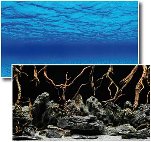 Amtra Deko Fotorückwand Mystic beidseitig Bedruckt 150x60cm 2in1 Rückwandposter Rückwand Folie Aquarien Poster Foto Folien