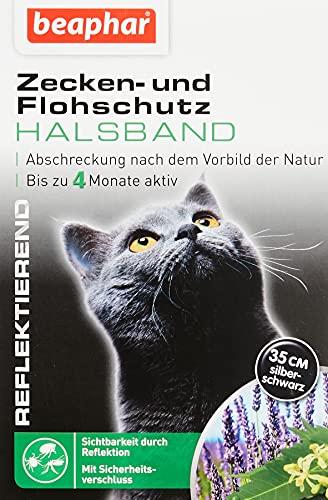 Zecken- & Flohschutz Halsband für Katzen   Zeckenschutz für Katzen   Reflektierendes Halsband gegen Zecken & Flöhe   Mit Sicherheitsverschluss   1 Stk