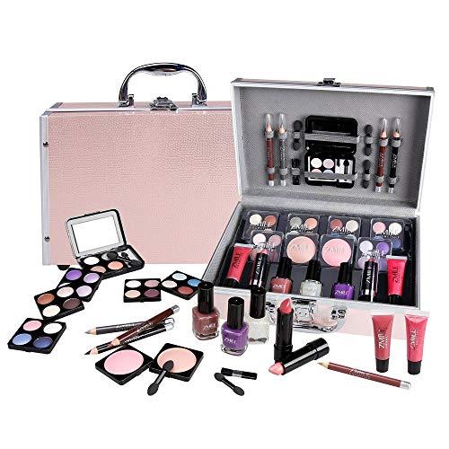 Schminkkoffer Set Profi Qualität 42-teilig im Alukoffer Beauty Case pink rosa TOP