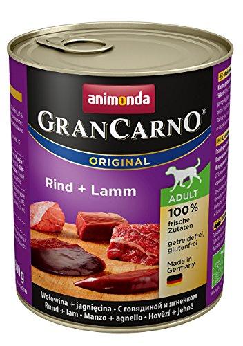 animonda Gran Carno adult Hundefutter, Nassfutter für erwachsene Hunde, Rind + Lamm,  6 x 800 g
