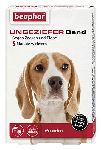 Beaphar Ungezieferband für Hunde, Gegen Zecken und Flöhe, Länge 65 cm