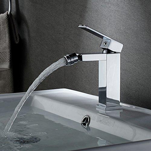 Auralum Bidetarmatur Wasserhahn Bidet Waschtischarmatur Einhebelmischer Mischbatterie Chrom