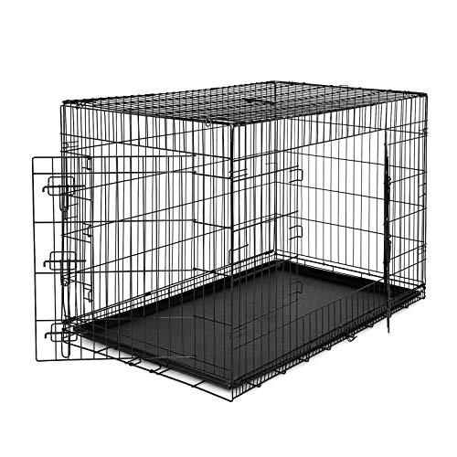 lionto by dibea Hundetransportkäfig Tiertransportbox Hundebox Größe (XXL) 106x71x77 cm