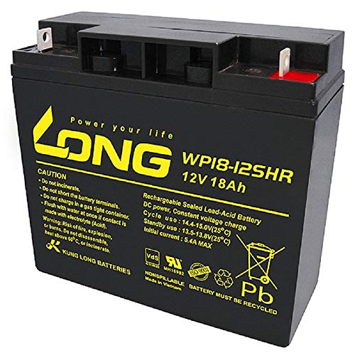 Akku 18Ah 12V AGM Blei Batterie Rasenmäher Rasentraktor Aufsitzmäher Boot Scooter 17Ah 19Ah 20Ah 22Ah 23Ah