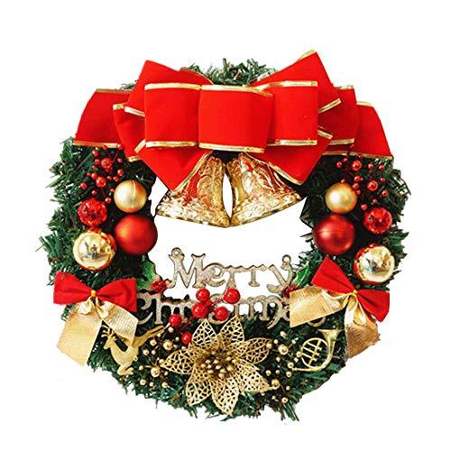Sayla Weihnachten Dekoration Kreativ Weihnachten Türkranz Weihnachten Dekoration Weihnachtsgirlande Kränze 30-35CM