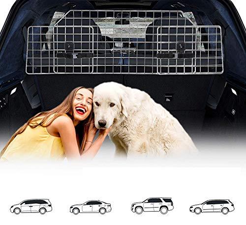 Hundegitter Auto, Kofferraum Trenngitter Universal für Hunde - Auto Hundegitter Zum Transport für deinen Hund - Schutzgitter mit Kopfstützen-Befestigung - Verstellbares Kofferraumschutz Gitter
