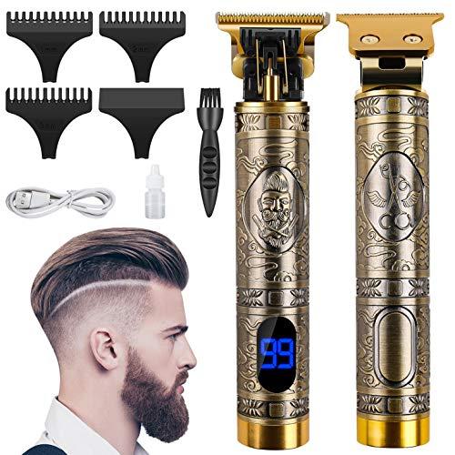 Haarschneidemaschine Profi Haarschneider Herren Elektrisch Haartrimmer, Präzisionstrimmer Langhaarschneider, LED-Anzeige, Elektrischer Outliner Grooming Trimmer Mit USB Wiederaufladbarer Apparat.