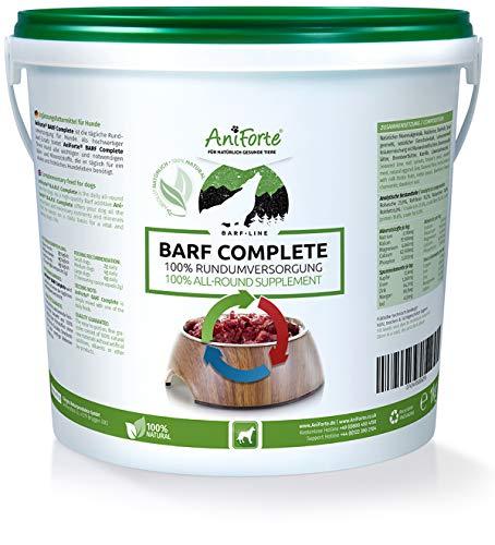 AniForte Barf Complete Pulver 1kg für Hunde, 100% Natur Rundumversorgung - Natürlich, Artgerecht und Ausgewogen, Hochwertiger Zusatz beim Barfen, Reich an Mineralstoffen, Vitalität und Wohlbefinden