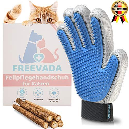 Freevada® Qualitäts Fellpflege-Handschuh für Kurze/Lange Hunde und Katzenhaare   2-in-1 Katzenbürste für Möbel und Kleidung   für Deine Katze, Hund, Kaninchen   Katzen Zubehör