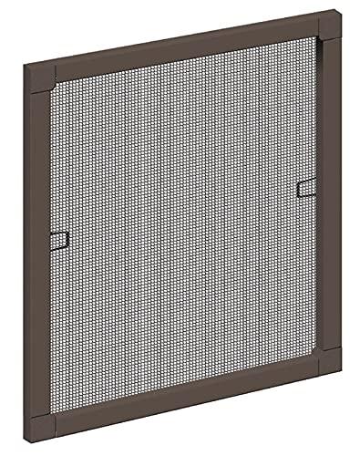 Schellenberg 50731 Insektenschutz-Fenster STANDARD, braun, 80 x 100 cm