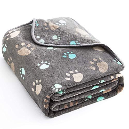 Allisandro® Super Softe Warme und Weiche Decke für Haustier Hundedecke Katzendecke Fleece-Decke/Tier Schlafdeck Überwurf für Hundebett Sofa und Couch- Gr. 80X60cm , Grey