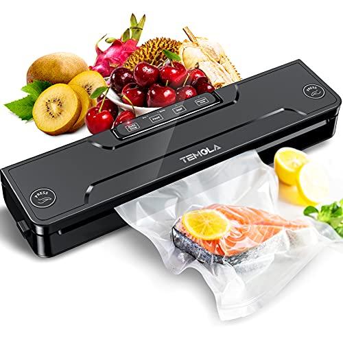 Vakuumiergerät, TEMOLA Vakuumierer Sous Vide, TS20 Folienschweißgerät für Sous Vide Automatische Lebensmittel Versiegelung für Trockene und Feuchte Lebensmittel(inkl 20pcs Vakuumierbeutel BPA frei )