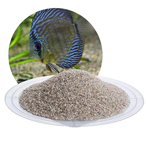 Schicker Mineral Aquariumsand Aquariumkies Graubraun im 25 kg Sack, kantengerundet, gewaschen, ungefärbt, (1,0-1,6 mm)