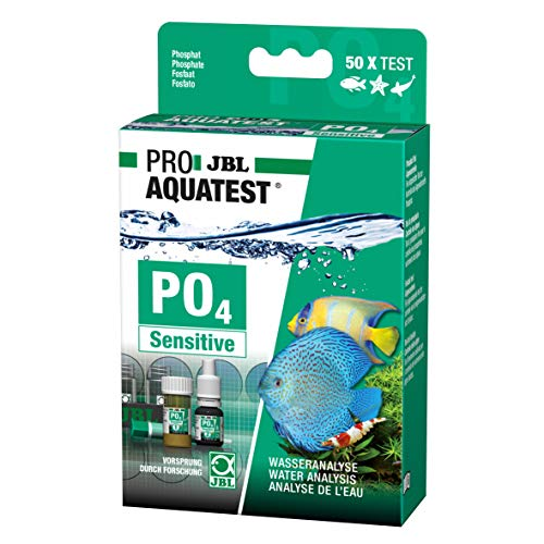 JBL ProAquaTest PO4 Phosphat Sensitiv, Wassertest-Set, Für Süß-/Meerwasser-Aquarien und Teiche