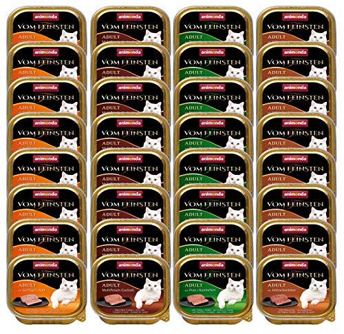 animonda Vom Feinsten Adult Katzenfutter, Nassfutter für ausgewachsene Katzen, kastrierte Katze Geflügel-Kreation Mix, 32 x 100 g