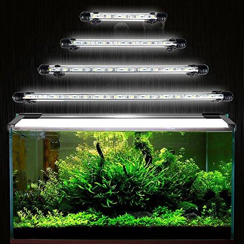 DOCEAN Aquarium LED Beleuchtung Leuchte Lampe 27 LEDs 5050SMD 48CM Lighting für Fisch Tank EU Stecker weißlicht Wasserdicht
