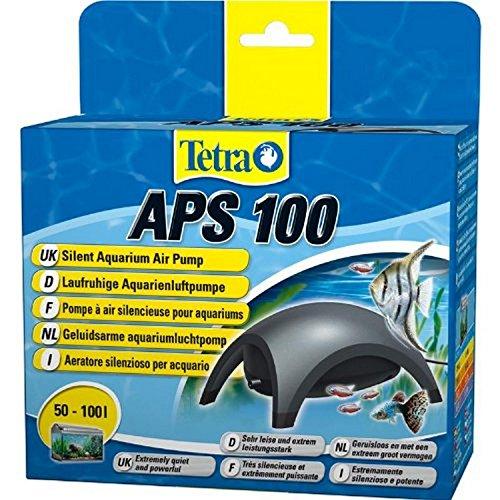 Tetra APS 100 Aquarium Luftpumpe - leise Membranpumpe für Aquarien von 50-100 L, schwarz