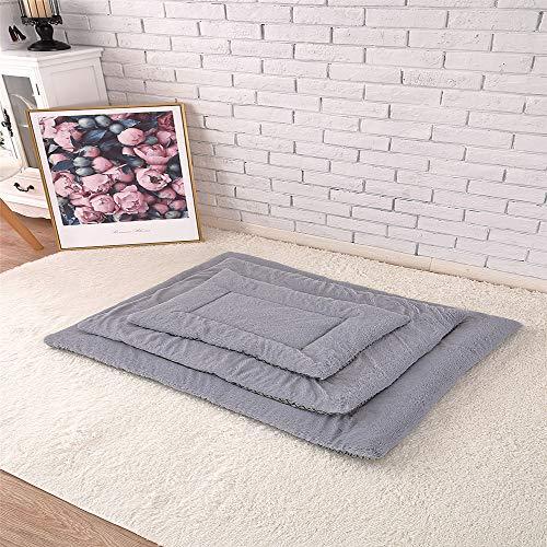 Molaier Haustiermatten verdickte warme Hundedecken vier Jahreszeiten erhältlich Katzenmatten Hundematten (L/90 x 75 cm)