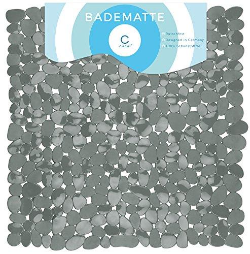 Circul Duschmatte 53 x 53 cm grau Steinoptik modern