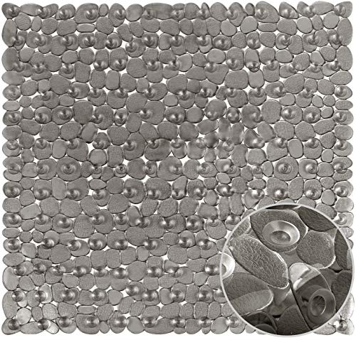 Duschmatte Duschmatten Dusche rutschfest, Duscheinlage, Antirutschmatte Dusche mit Saugnäpfen, Maschinenwaschbar rutschfeste Badematte 53 X 53cm (Grau)