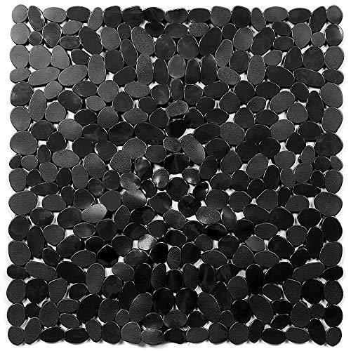 Duschmatte,Duschmatte Rutschfest,Duschmatte Rutschfest Quadratisch mit Hunderte Saugnäpfen,Maschinenwaschbar Duscheinlage Rutschfest,54x54cm(Schwarz)