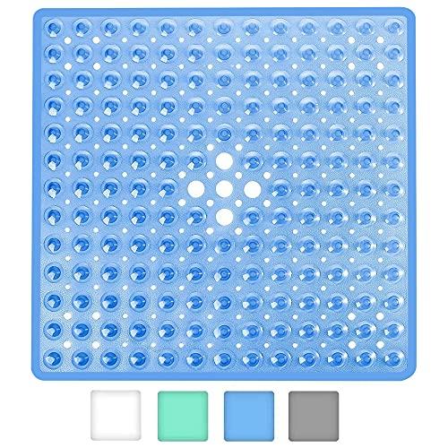 Wimaha Quadrat Duschmatten,53×53cm rutschfest Badewannenmatten Anti Schimmel Badematten mit Saugnapf, Sicherheits badezimmermatte,maschinenwaschbar Badewannenmatte (Blau)